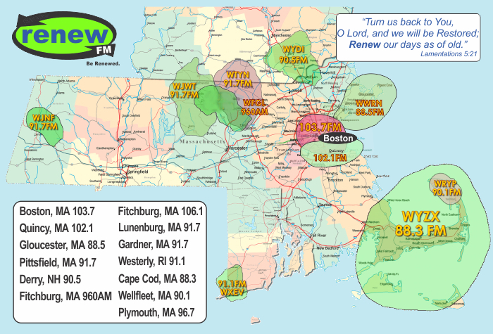 RenewFM Coverage Map
